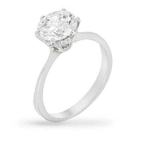 Gwenyth 2ct CZ Sterling Silver Engagement Ring