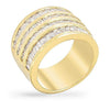 Jennifer 4ct CZ 14K Gold Wide Band Ring