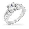 Rachel 2.8ct CZ White Gold Rhodium Ring