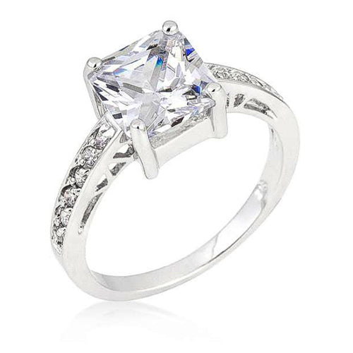Penelope 2.1ct Clear CZ Sterling Silver Ring