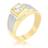 1.4ct CZ Two-Tone Men's Ring