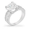 Paulina 8ct CZ White Gold Rhodium Classic Ring
