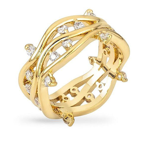 Irina 1.3ct CZ 14k Gold Vine Ring
