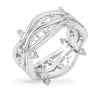 Irina 1.3ct CZ White Gold Rhodium Ring