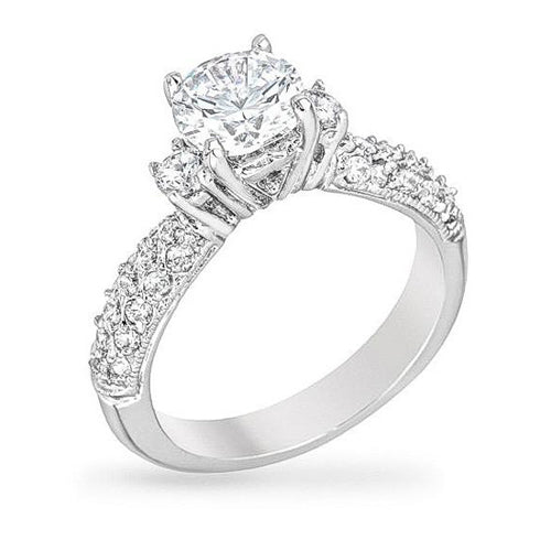 Annabelle 4.2ct CZ White Gold Rhodium Ring