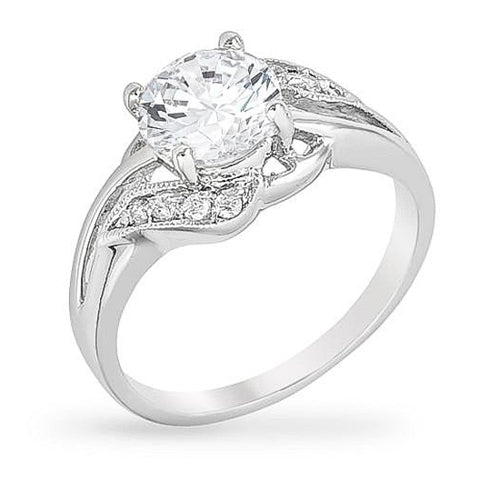 Havana 2.7ct CZ White Gold Rhodium Ring