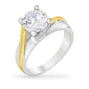 Sara 1.7ct CZ Two-Tone Ring