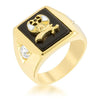 1ct CZ 18k Gold Shriner's Men's Ring
