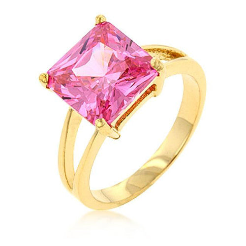 Daria 5ct Pink CZ 14k Gold Ring