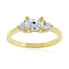 Oval Serenade Triplet Ring in Goldtone