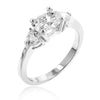 Mariah 1.5ct CZ White Gold Rhodium Simple Ring