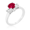 Tristan 3.2ct Pink Tourmaline CZ White Gold Rhodium Ring