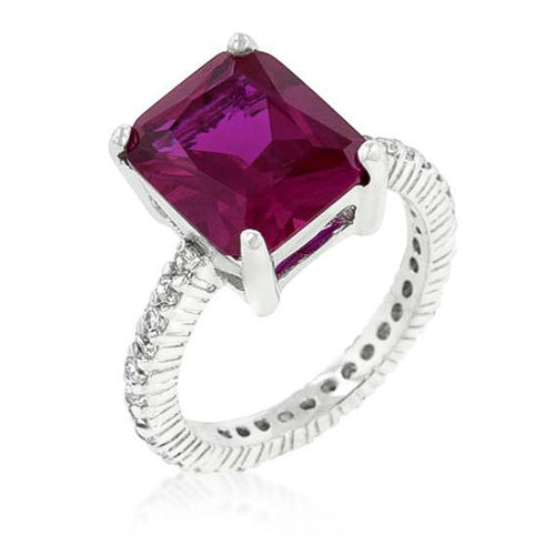 Chrisha 6.1ct Pink CZ Sterling Silver Ring
