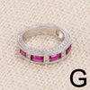 CZ Half Eternity Rings