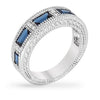 Margo 1.5ct Sapphire CZ White Gold Rhodium Eternity Ring