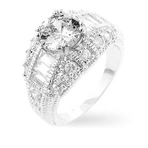 Dannicka 2.63ct CZ Abstract Engagement Ring