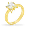 Ariel 1.5ct CZ 14k Gold Floral Ring
