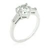 Hazel 2.5ct CZ White Gold Rhodium Heart Ring