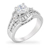 Mylie 4.4ct CZ White Gold Rhodium Ring