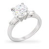 Kat 2.5ct CZ White Gold Rhodium Ring