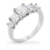 Helen 2.5ct CZ White Gold Rhodium Five Step Ring