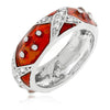 Christina Marbled Ruby Enamel White Gold Rhodium Eternity Ring