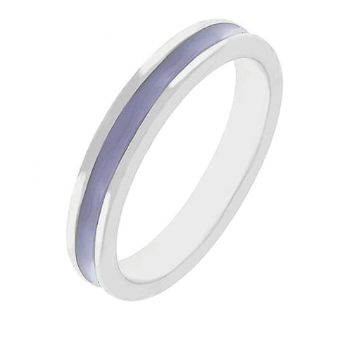 Theresa Indigo Enamel White Gold Rhodium Eternity Band