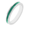 Theresa Emerald Green Enamel White Gold Rhodium Eternity Band