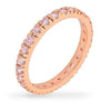 Tasha 3.5ct Pink CZ Rose Gold Rhodium Eternity Band