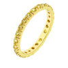 Tasha 3.5ct Canary Yellow CZ 14k Gold Eternity Band