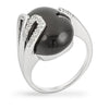 Paige Onyx White Gold Rhodium Cocktail Ring