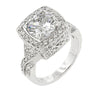 Polly 3.8ct CZ White Gold Rhodium Antique Inspired Ring