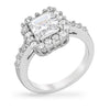 Claire 1.8ct CZ White Gold Rhodium Classic Ring