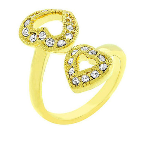 Lisette Crystal 14k Gold Heart Anniversary Ring