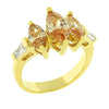 Trisha 2.5ct CZ 14k Gold Triple Marquise Ring