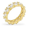 Jackie 2.8ct CZ 14k Gold Eternity Band