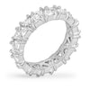 Jackie 2.8ct White Gold Trillion CZ Eternity Band