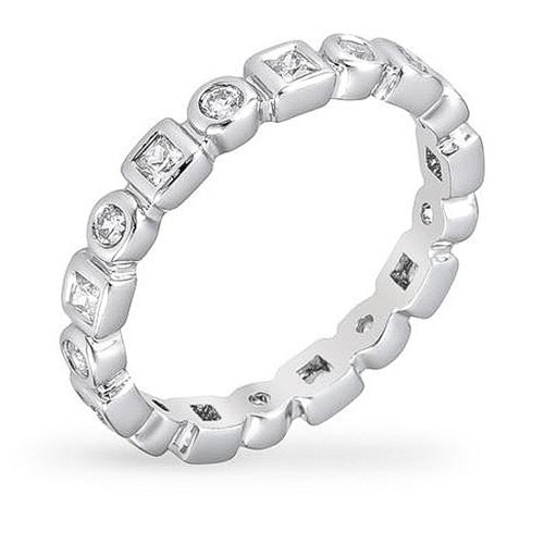 Katrina 1ct CZ White Gold Rhodium Eternity Band