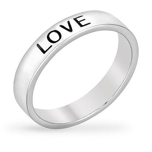 Lacey White Gold Rhodium Love Ring