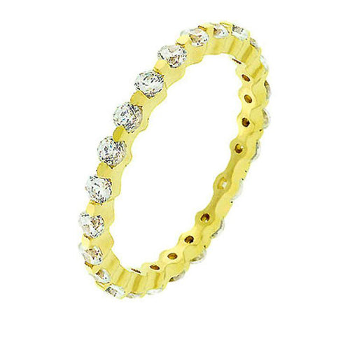 Grace 1.2ct CZ 14k Gold Delicate Eternity Band