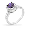 Hansley 3ct Tanzanite CZ White Gold Rhodium Ring