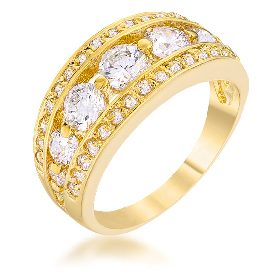 Genievere 3ct CZ 14k Gold Ring