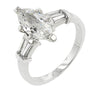 Silvia 2.1ct CZ White Gold Rhodium Marquise Engagement Ring