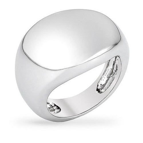 Rita White Gold Rhodium Abstract Ring
