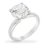 Charlotte 3ct CZ Sterling Silver Solitaire Classic Ring