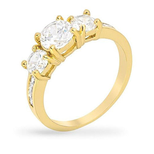 Macy 3.3ct CZ 14k Gold Ring