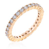 Madeline 2.5ct CZ Rose Gold Eternity Band