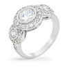 Linda 3.5ct CZ White Gold Rhodium Ring