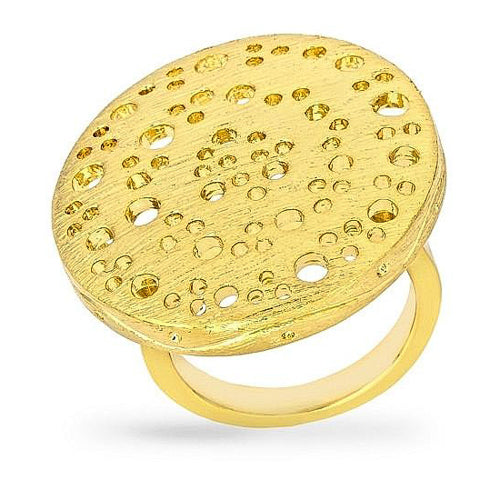 Lindsey 14k Gold Textured Statement Ring