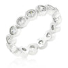 Lina 1.2ct CZ White Gold Rhodium Bezel Band